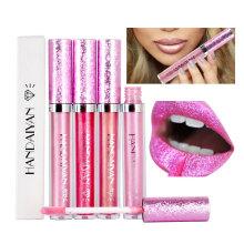 Glitter Lip Gloss Lips Makeup Matte Metallic Liquid Lipstick Women Cosmetics Matt Shimmer Lip Blam Mate Batom 1P