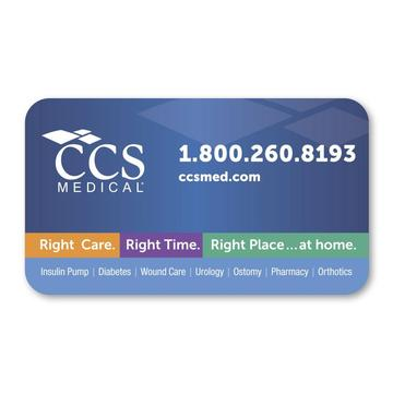Custom Colorful Ovals Magnetic Business Card
