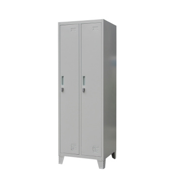 Two Door Metal Locker With Feet