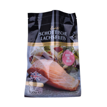 Qualified Sealed Frozen Meat Salmon Plastic Flat Bag