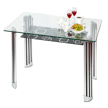 Clear or Frosted Furniture Toughened Table Top Glass