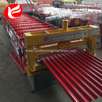 Corrugated roof tile color steel making machine price