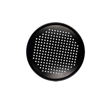 "12"" Carbon Steel Perforated Steam Pan-Black"