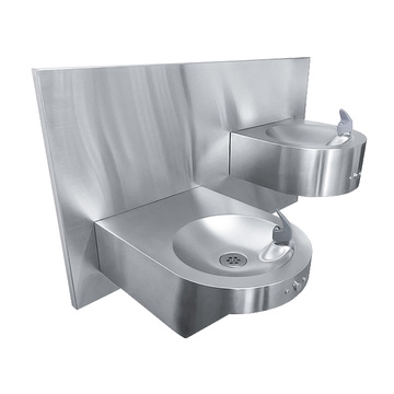 Wall mount drinking water fountain