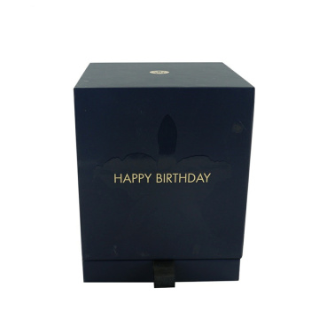 Black Custom Luxury Cardboard Candle in Gift Box