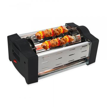 Horizontal electric BBQ grill easy to clean