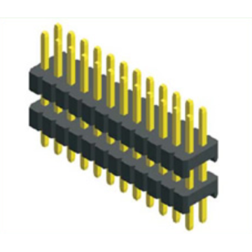 0.8mm Ptich Dual Row Double Plastic Straight