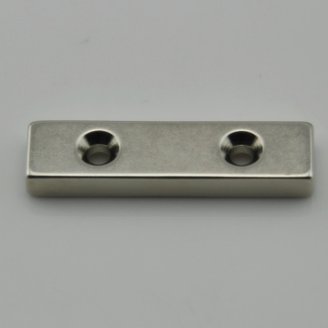 Rare earth bar neodymium magnet with holes