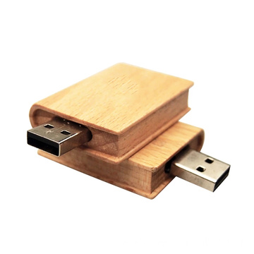 Wooden Book  Bamboo Usb Flash Drive