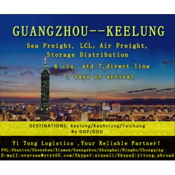 Guangzhou Sea Freight to Keelung