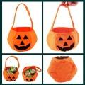 New arrivals Halloween Pumpkin Bag Portable Halloween Prop Basket Non-woven Candy Bag Three-dimensional Pumpkin Bag 21g