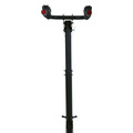 black steel Ball Mounted Bike Racks