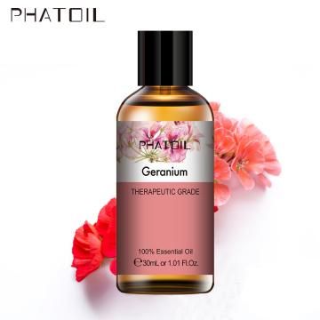 PHATOIL 30ML Pure Geranium Seeds Essential Oils Diffuser Cinnamon Lemongrass Patchouli Citronella Marjoram Chamomile Aroma Oil
