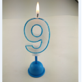 birthday number candle led cake multi color candle