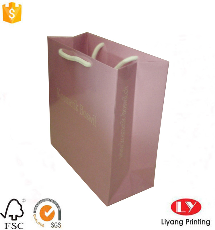 pink paper shopping bag