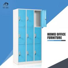 Nine door school office metal dressing cabinet