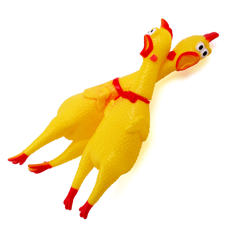 Petcircle Funny Dog Toys Rooster Crows Attract Puppy Dog And Cat Pet Squeak Toys Screaming Rubber