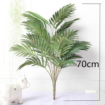 70cm 21Heads Large Tropical Palm Tree Green Plant Branch Silk Palm Leaves Faux Monstera Bouquet for Home Bonsai Decoration