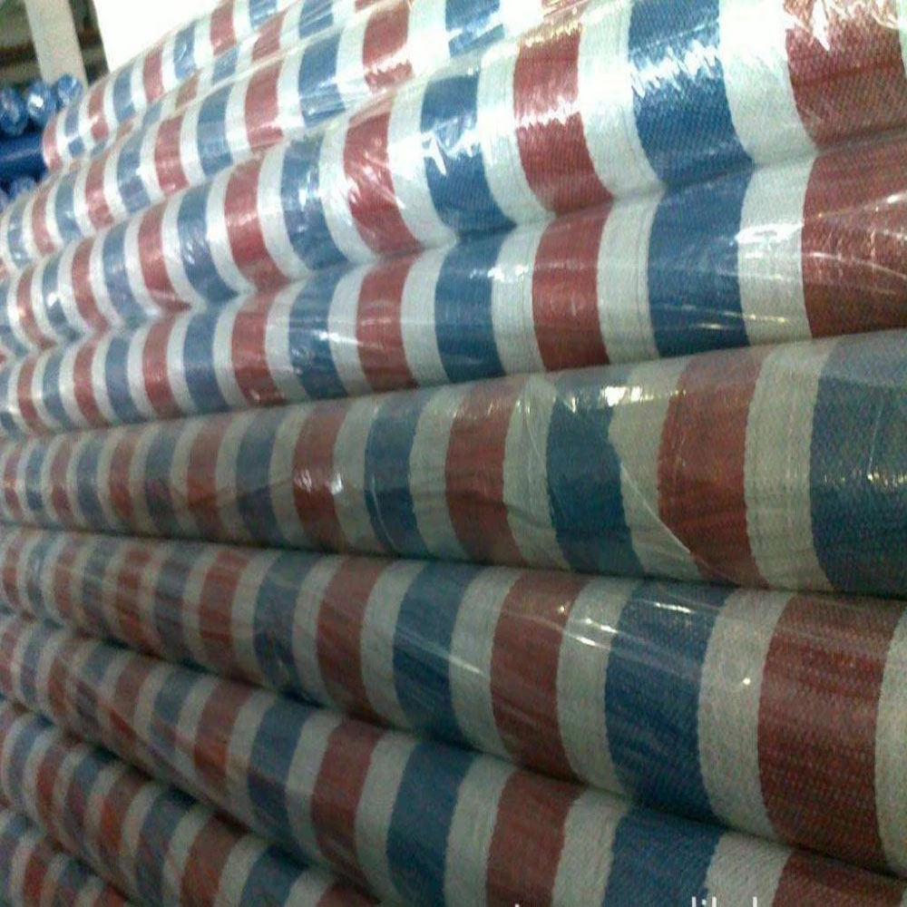 Red Blue White Stripe Tarpaulin Roll