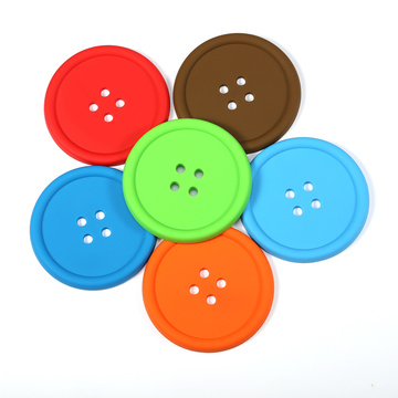 colorful durable rubber custom coasters