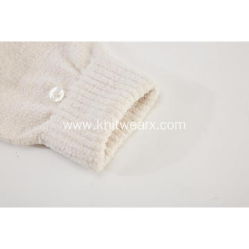 Girl`s Knitted Faux Fur Screentouch Fingerless Gloves