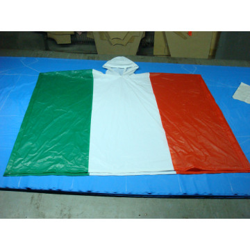 hot selling High quality PVC Flag rain poncho