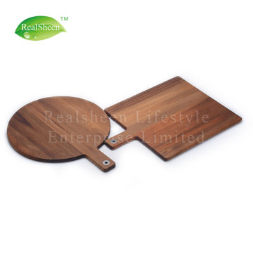 Square Round Paddle Acacia Wood Pizza Board