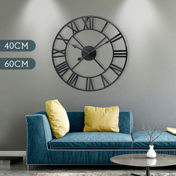 Newest 40cm/60cm Wall Clock Vintage Home Decor Livingroom Roman Round Shape Wall DecorativeHome Decoration Accessories Clock