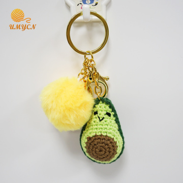 Crochet Avocado Key Chain Keyring