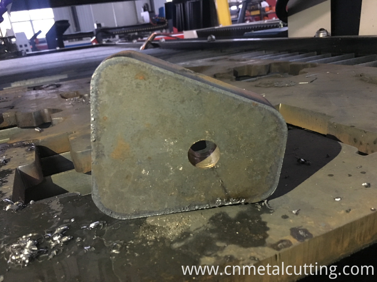 Drilling and plasma cutting hole