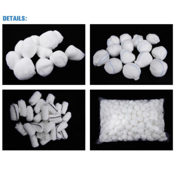 100% Cotton Disposable Medical Absorbent Gauze Ball