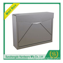 SMB-061SS High Quality German Embedded Rustproof Wall Mount Locking Mailbox