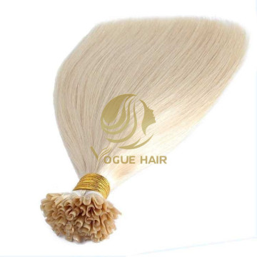 Blonde U-tip pre-bonded fusion human hair extensions