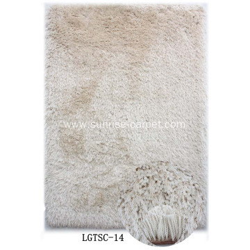 Two Yarn Mix Rug with Long Pile