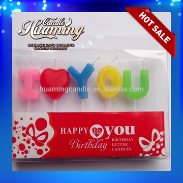 Wholesale Alphabet Birthday Candle