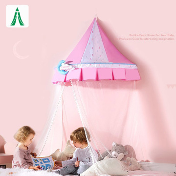 Kids Pink Hanging Bed Canopy Reading Tent