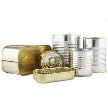 tinplate cans of gold lacquer