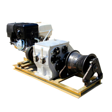 Stringing Equipment Gasoline engine powered winch