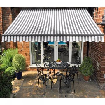 Retractable arms awning 4.0*1.5M Green/White Stripes