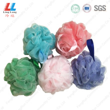 Double mesh deep color bath ball