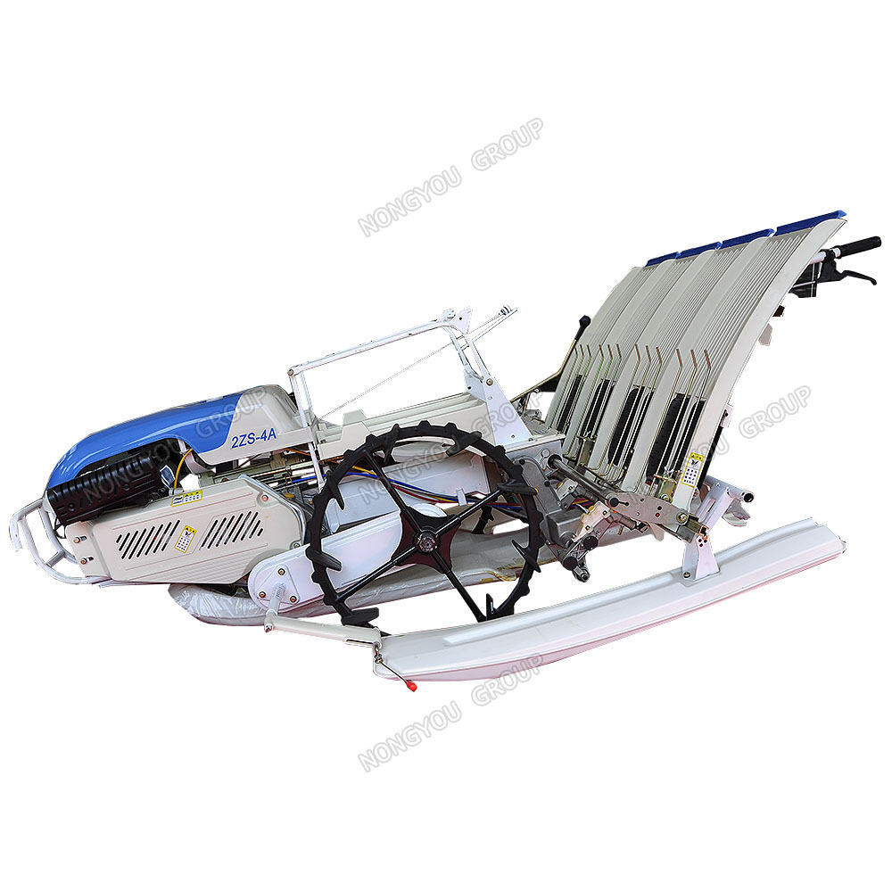 4 row hand held manual rice transplanter