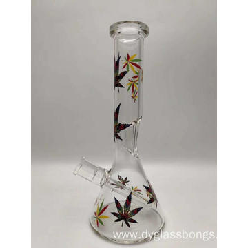 Glass Beaker Bongs with a flute on Pipe