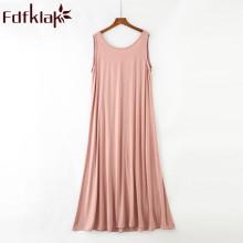 Fdfklak Modal Summer New Nighty Lingerie Femme Sexy Nightgowns Night Dress Women Nightwear Sleeping Dress Plus Size L XL XXL