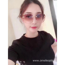 High Quality Square Rimless Sunglasses For Women