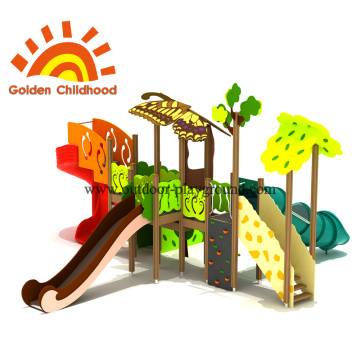 Forest Tube Slide Outdoor Playground Equipment