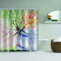 Colorful Tree Waterproof Shower Curtain Colorful Bathroom Decor with Hooks