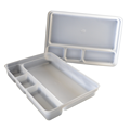 ISO 13485 four compartment tray