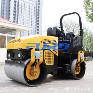 Asphalt compaction machine double drum road roller vibratory tandem roller FYL-1200