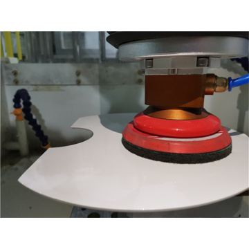 Toilet lid grinding sanding abrasive force control system