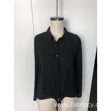 Long black slimming shirt